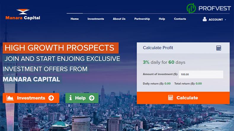 Manara Capital обзор и отзывы вклад 350$