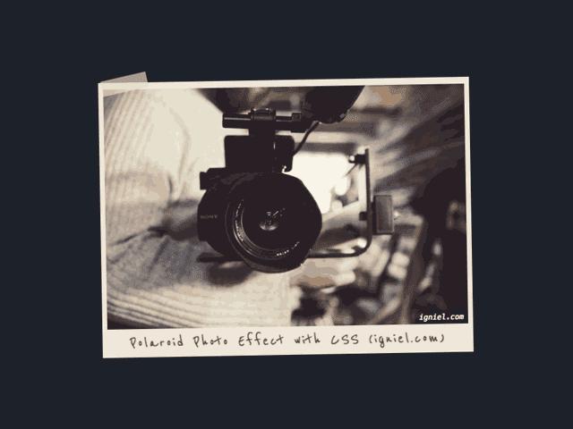 Bingkai Foto dan Gambar Polaroid dengan CSS ala Igniel