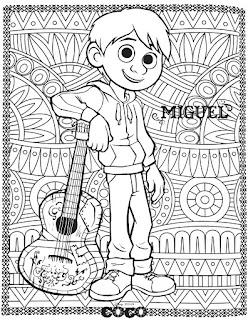 Coco para colorear | Pelicula coco mandala para niños