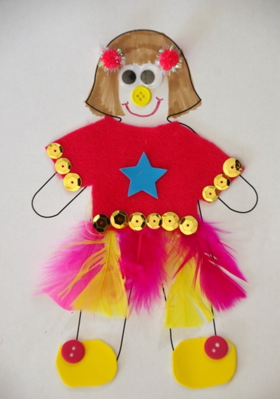 Easy Paper Doll Craft For Kids Ideas Art And Craft Projects