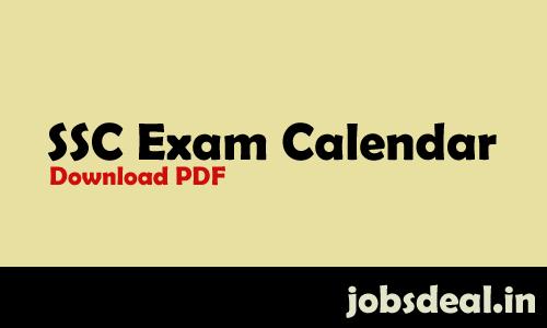 SSC Exam Calendar 2017