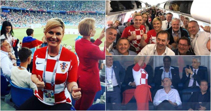 Presidenta croata viajó al Mundial con vuelo pagado de su bolsillo y sin goce de sueldo.