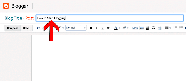 create blogger post title