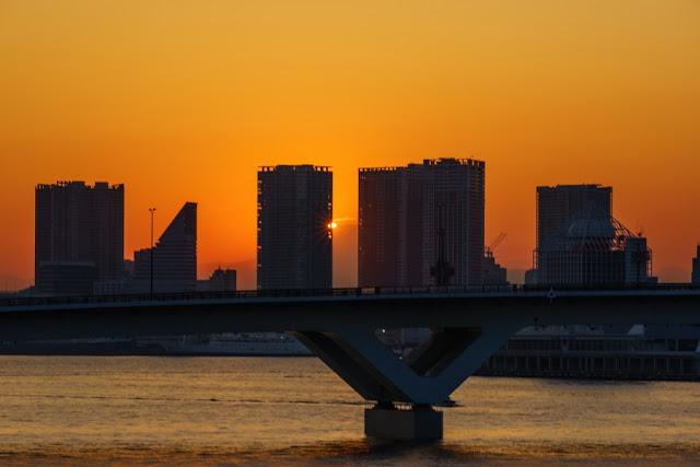晴海大橋からのダイヤモンド富士