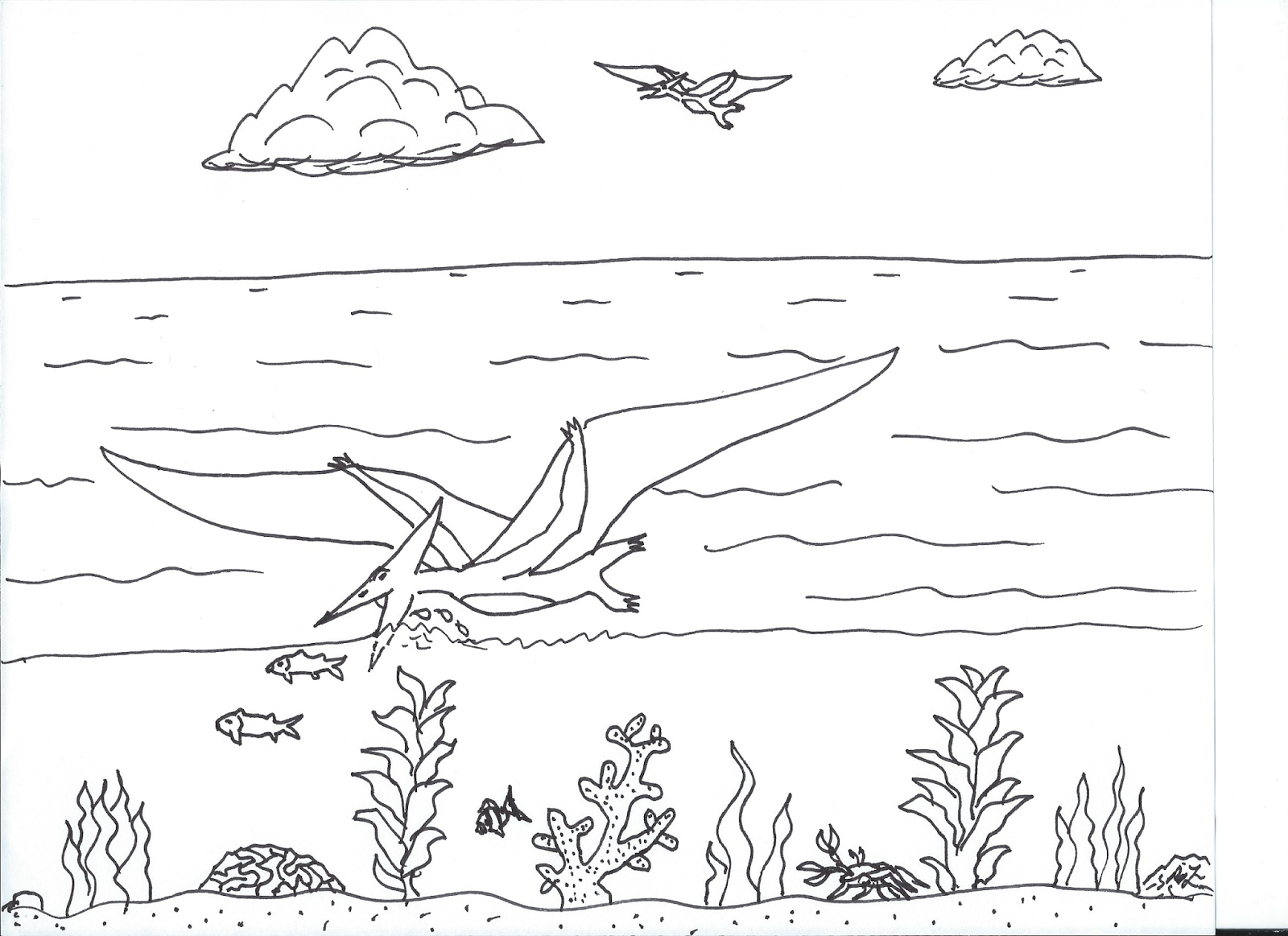Robin\'s Great Coloring Pages: A New View of Pteranodon
