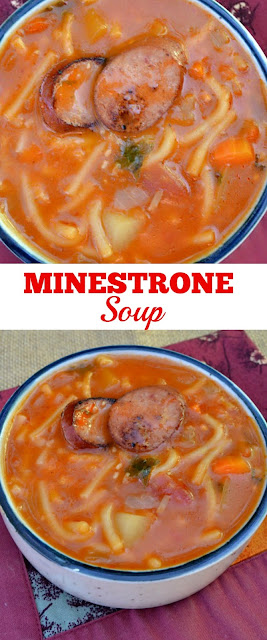Thick, rich and so delicious Minestrone soup on a cold day