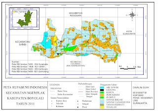 Peta Rupa Bumi Indonesia (RBI) Kecamatan Ngemplak ~ Konsep ...