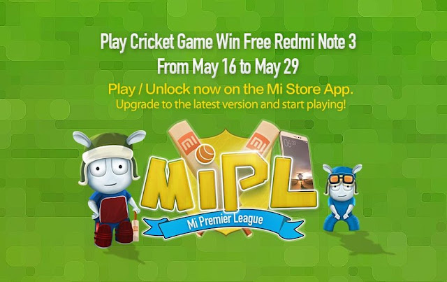 Win Free Xiaomi Redmi Note 3 during its MiPL