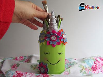 vasetto di vetro unicorno kreattiva