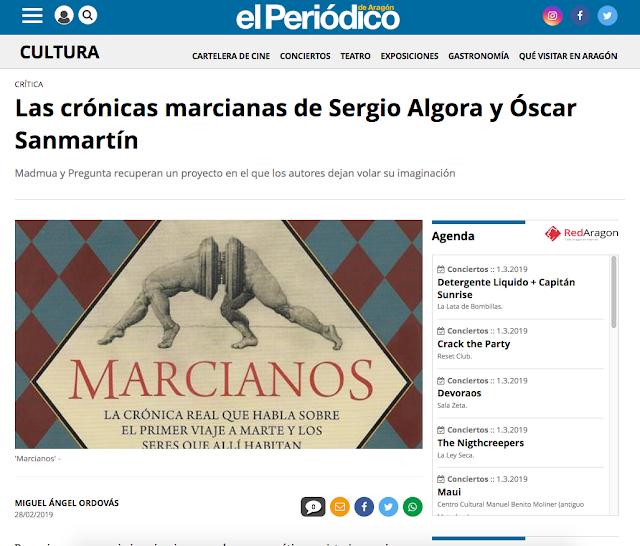 https://www.elperiodicodearagon.com/noticias/escenarios/cronicas-marcianas-sergio-algora-oscar-sanmartin_1345940.html