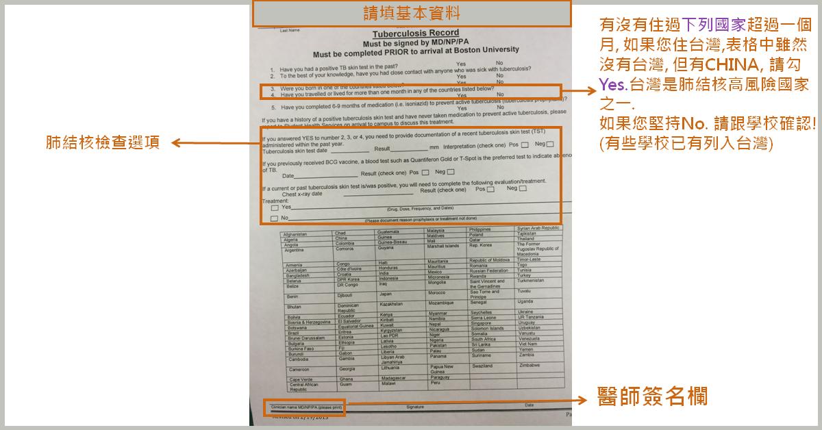 徐慶玶醫師的旅遊醫學: 留學門診電話諮詢(II) 肺結核檢查/證明書