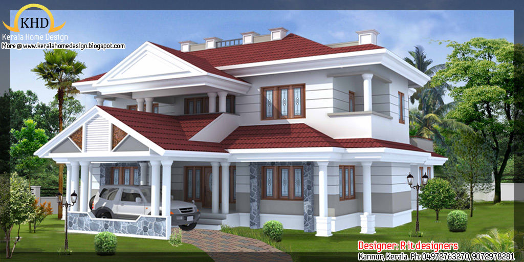 Awesome House Elevations Kerala Home Design Floor