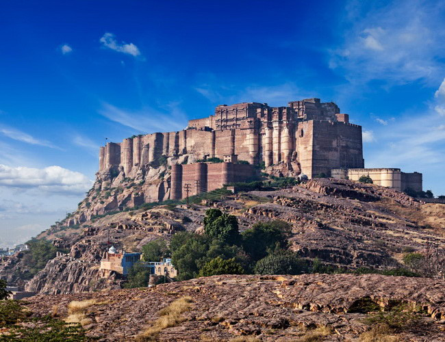 Xvlor Mehrangarh Fort is Rathore clan palace built by Rao Jodha in 1459