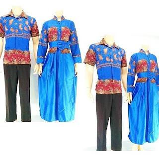 batik-pasangan-juwita-gamis-muslim-biru