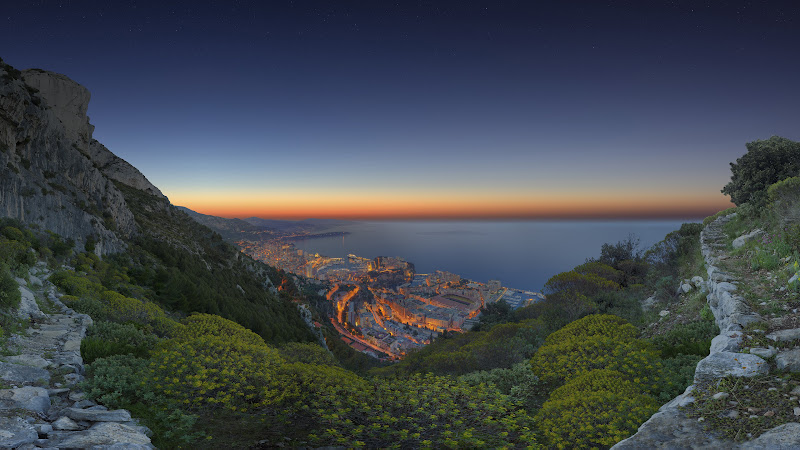 Sunrise Panorama in Monaco HD