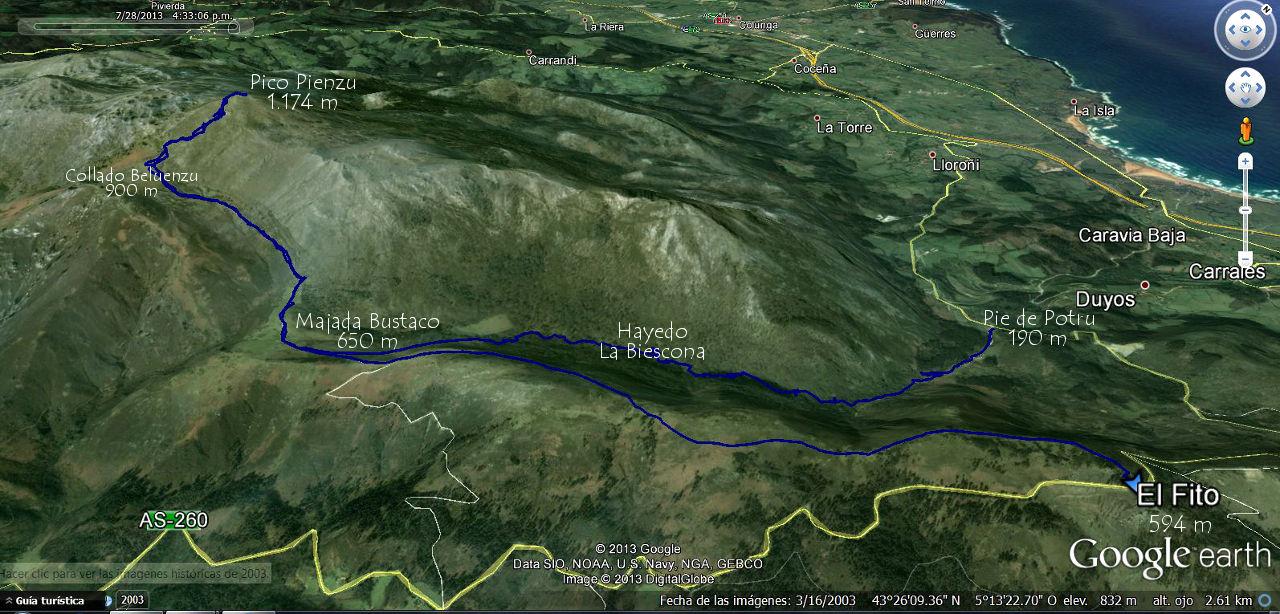 RUTA DEL PICO PIENZU POR EL HAYEDO BIESCONA Asturias PARRES