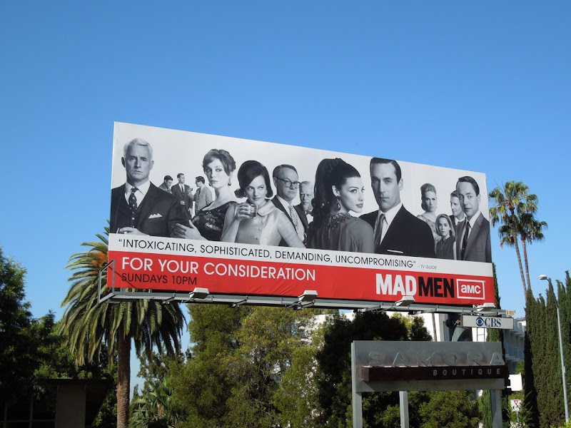 Mad Men season 5 For Your Consideration billboard