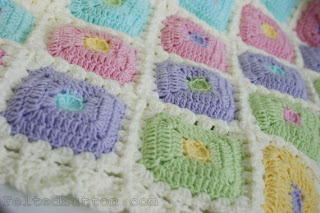 Puffy Patch Quilt Crochet Pattern by Susan Carlson of Felted Button