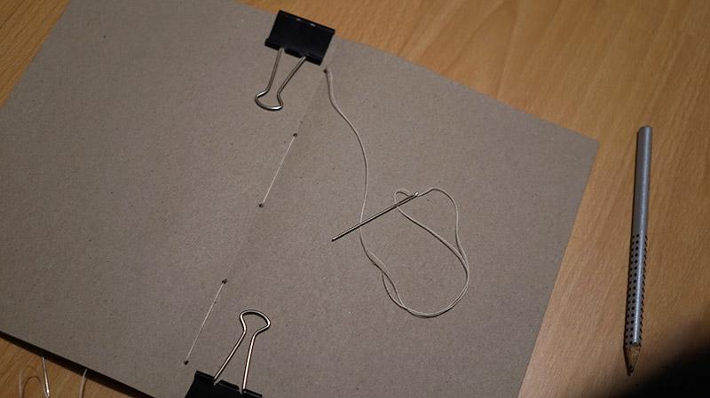 KuneCoco • DIY • Notizbücher selbermachen • Heftblock nähen