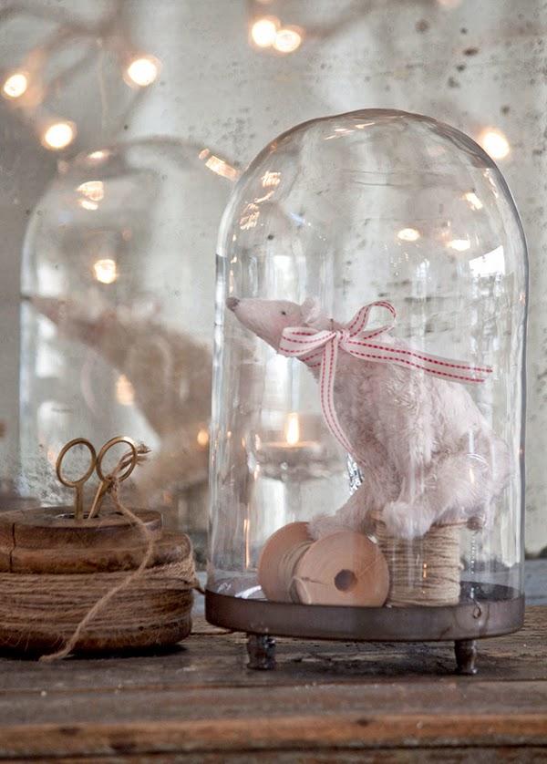Tilda Sweet Christmas Polar Bear in Cloche