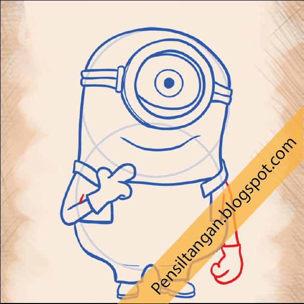 Cara Menggambar Cartoon Minion Bagian 1 Pensil Tangan