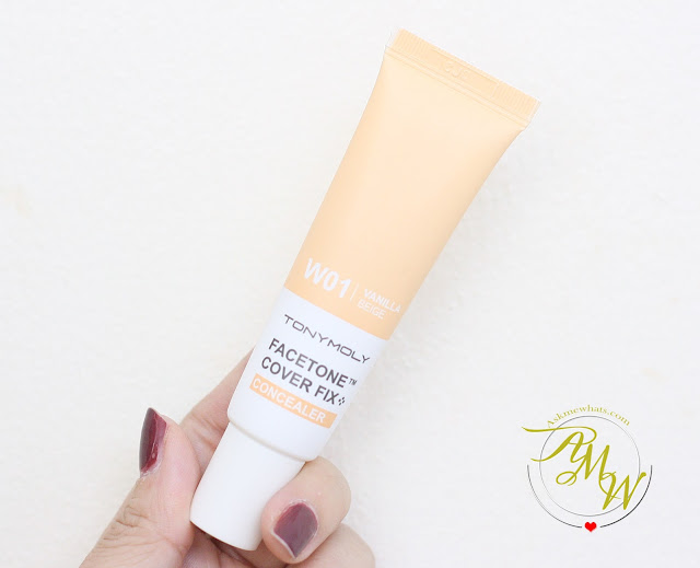 a photo of Tony Moly Facetone Cover FIX Concealer Review