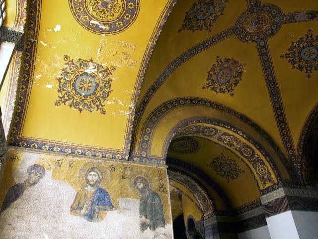 Santa Sofia, Vista general del mosaico de la Deesis