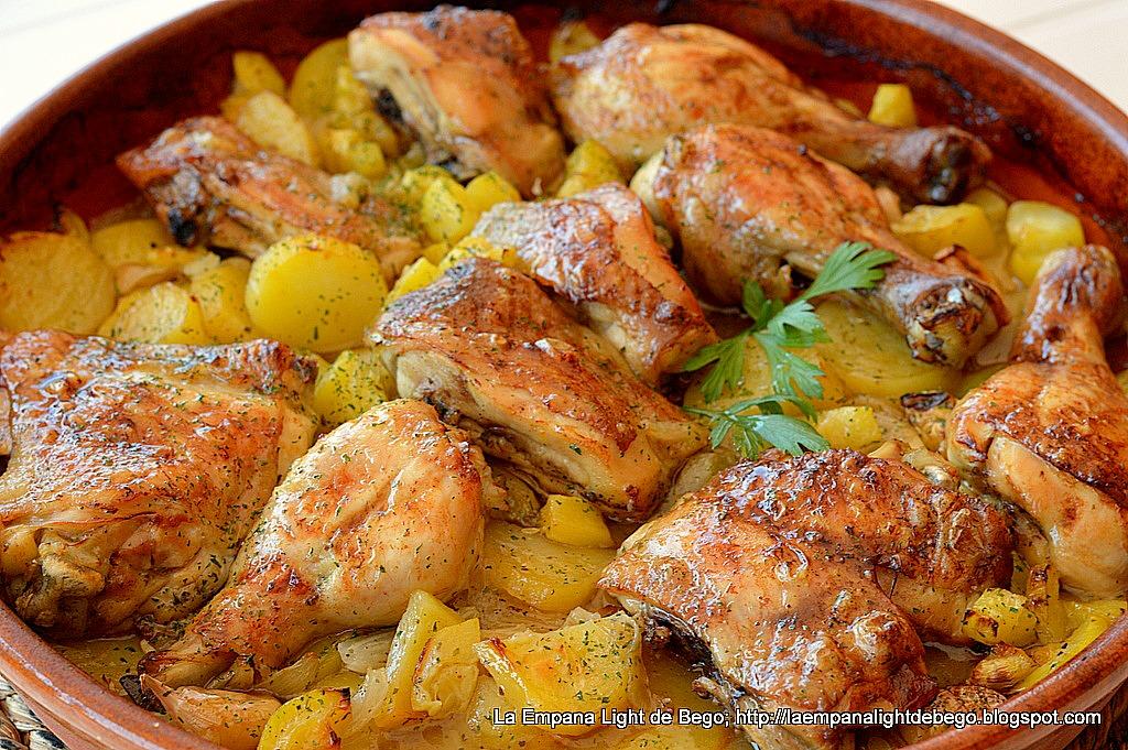 La empana light de bego pollo asado al ajillo con lim n - Pollo al horno con limon y patatas ...
