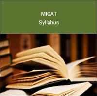 MICAT Syllabus