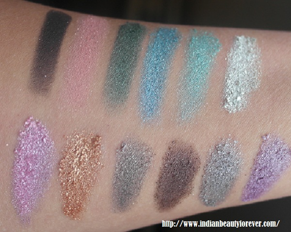 MUA Palette swatches