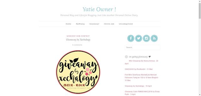 blog yatie owner