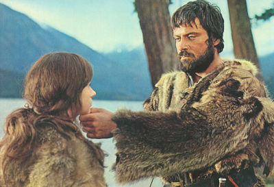 Jean La Bete (Oliver Reed) and Eve (Rita Tushingham) in The Trap