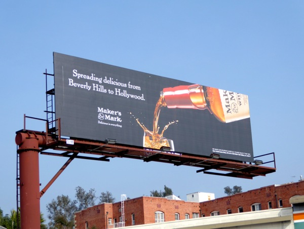 Spreading delicious Beverly Hills to Hollywood Makers Mark billboard
