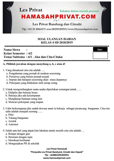 Soal Ukk Kelas 4 Tema 6 Ilmusosial Id