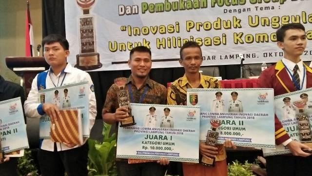 Anugerah Inovasi Dearah Lampung, Warga Kebuntebu Raih Juara I
