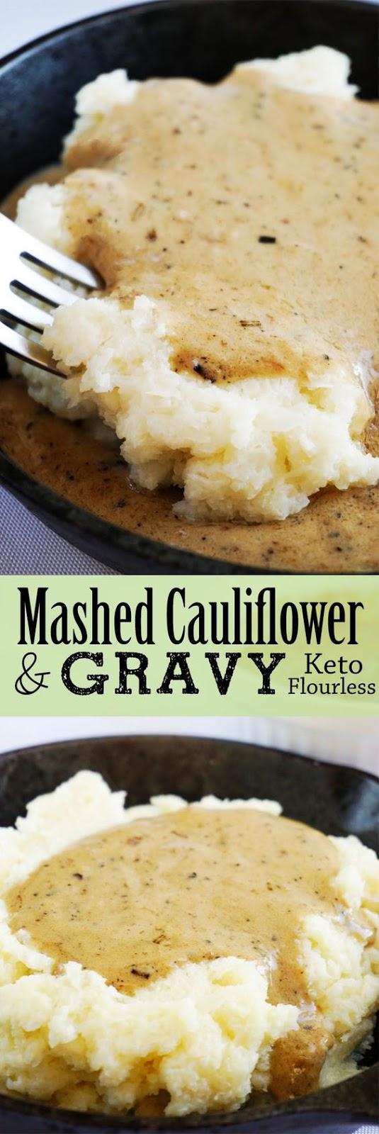 CREAMY CAULIFLOWER MASH AND KETO GRAVY