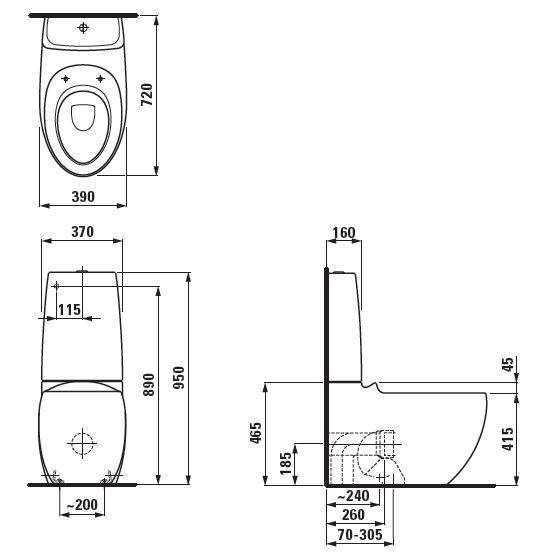 Modecor Toilet Suites: Laufen Ilbagno Alessi One Back to