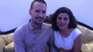 زواج الفنانة منى هلا من مواطن من جمهورية التشيك