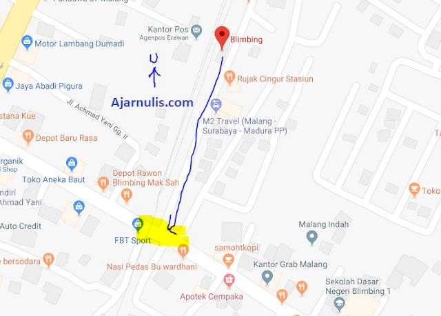 Cara pesan dan Naik Gojek - Grab di Stasiun Blimbing Malang