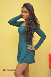 Telugu Actress Prasanthi Stills in Green Short Dress at Swachh Hyderabad Cricket Press Meet  0032.JPG