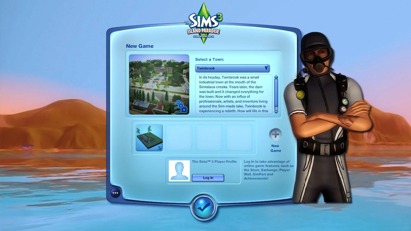 Plumbob News: The Sims 3 Mod - Main Menu, Island Paradise