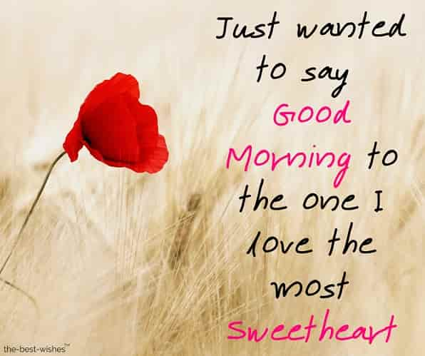 good morning messages to your sweetheart