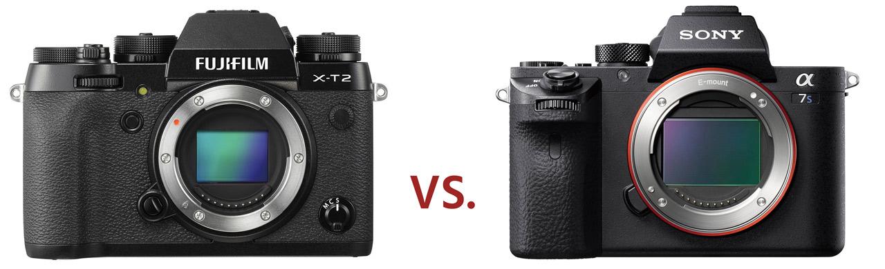 Сравнение Fujifilm X-T2 и Sony A7S II