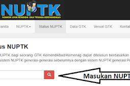Cara Cek NUPTK dan Verval GTK