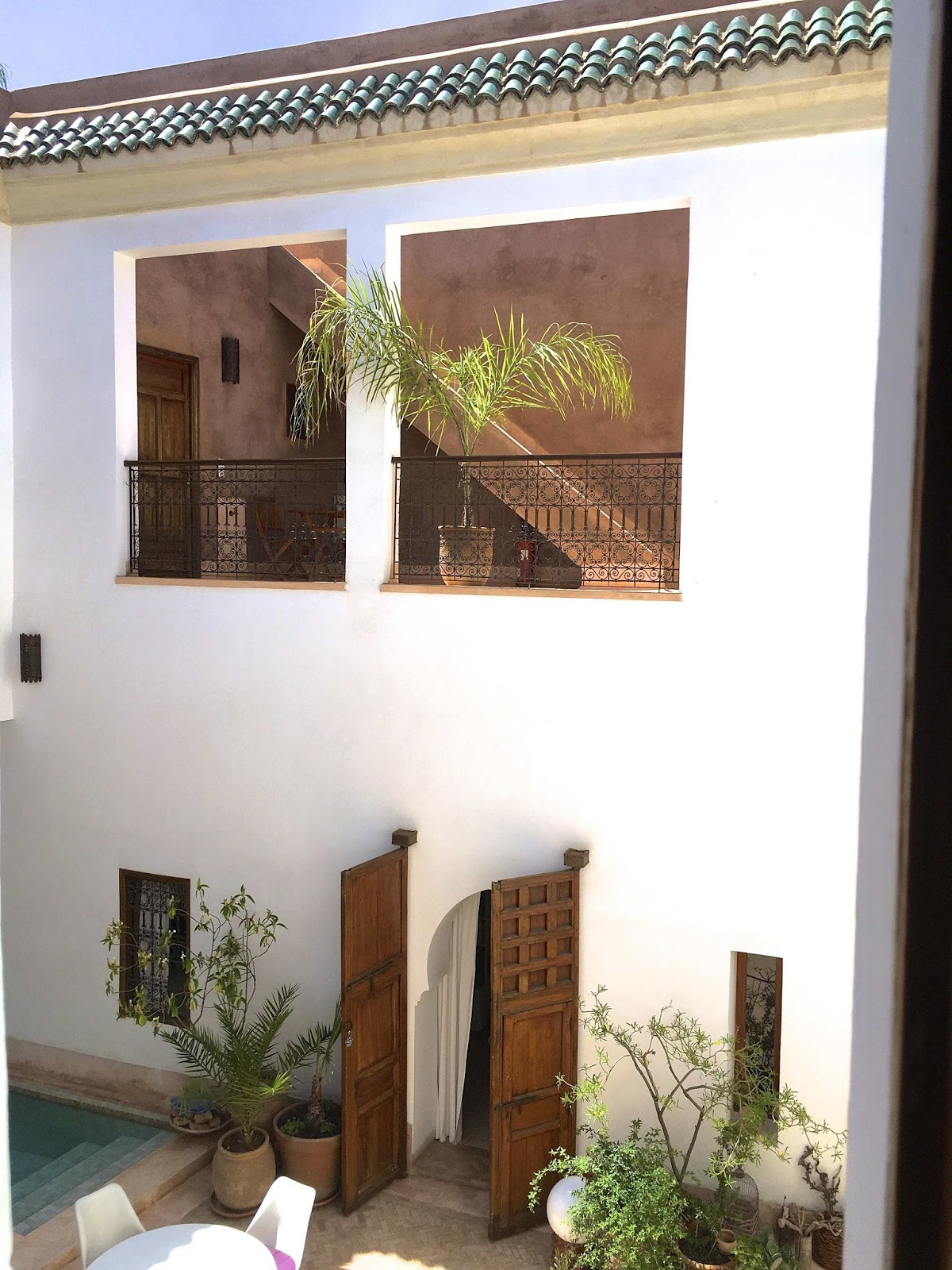 riad up, Marrakech, Medina, minimalism, patio, pool
