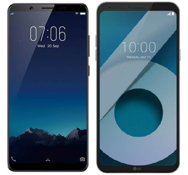 "Vivo V7+ versus LG Q6; Battle of ""Bezel-Less"" 18:9 Display"