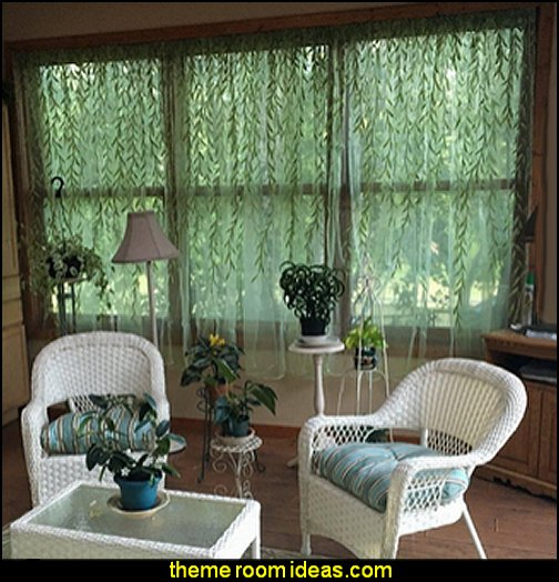 Willow Voile Tulle Room sheer Curtains