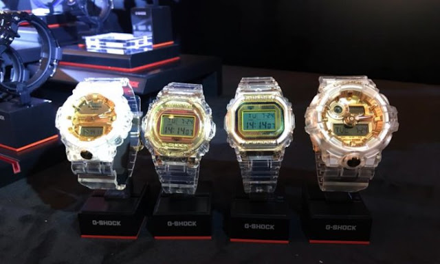 G-Shock 35th Anniversary Glacier Gold Collection Clear Jelly
