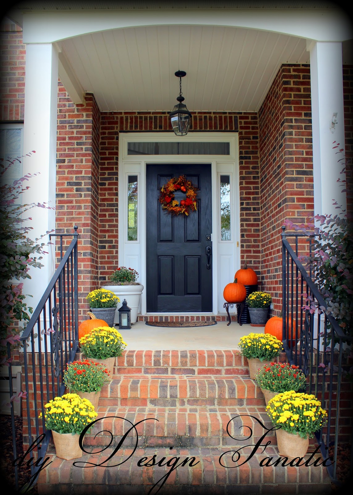Mums And Pumpkins Are So Pretty On The Porch And The Front