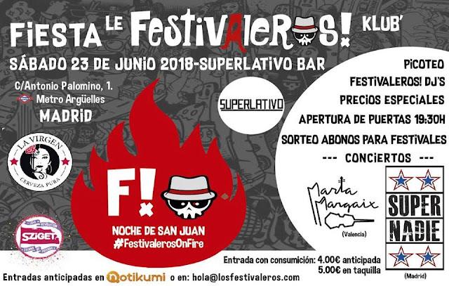 Festivaleros, Klub, Concierto, Festival